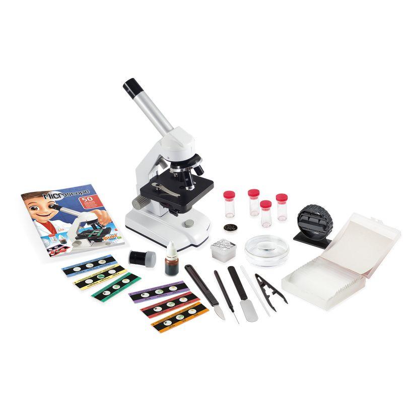 Mikroskop kovinski 3 povečave 50 Eksperimentov Buki1