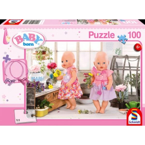 Otroška sestavljanka puzzle 100 delni Baby born Rožica