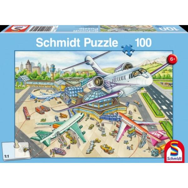 Otroška sestavljanka puzzle 100 delni Schmidt Letališče