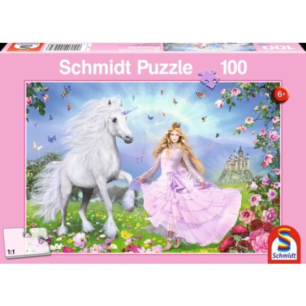 Otroška sestavljanka puzzle 100 delni Schmidt Princeska