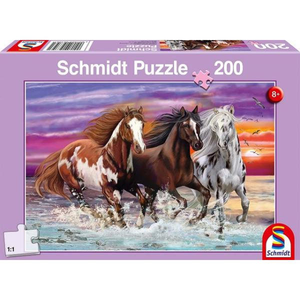 Otroška sestavljanka puzzle 200 delni Schmidt Konji