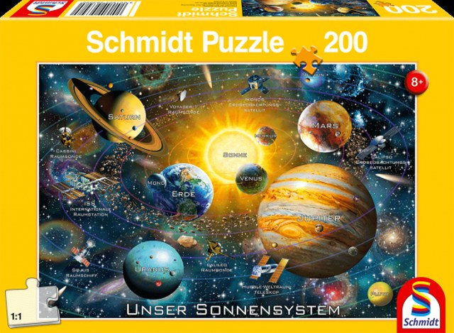 Otroška sestavljanka puzzle 200 delni Schmidt Planeti