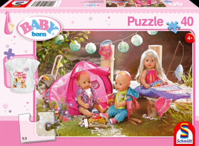 Otroška sestavljanka puzzle 40 delni Baby born Igrišče