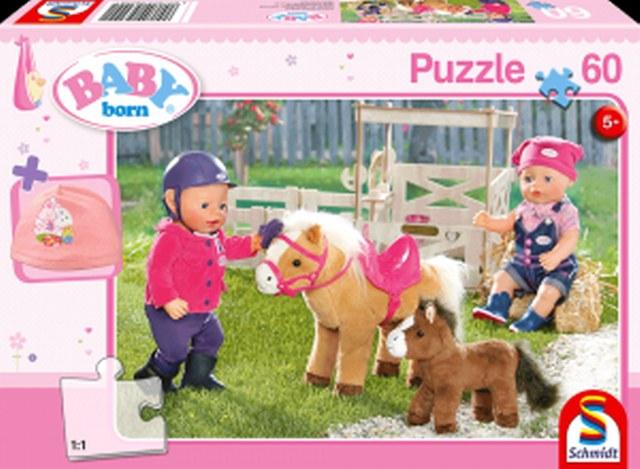 Otroška sestavljanka puzzle 60 delni Baby born Poni