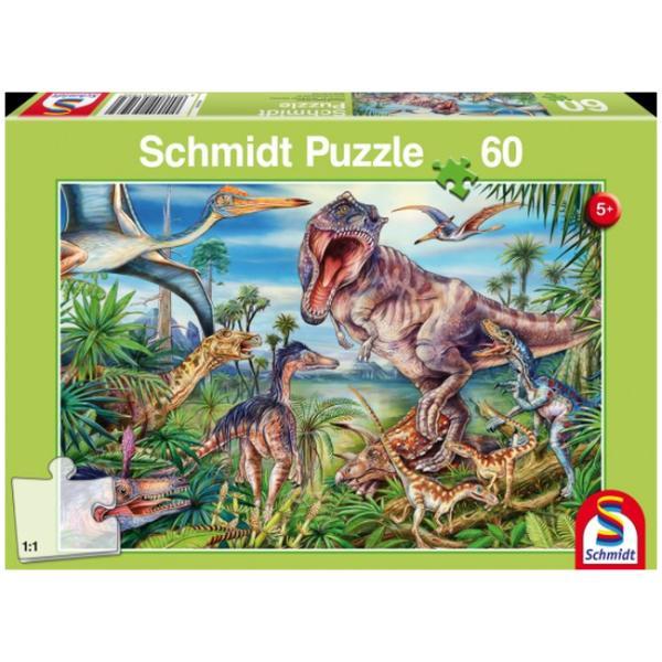 Otroška sestavljanka puzzle 60 delni Schmidt Dinozavri