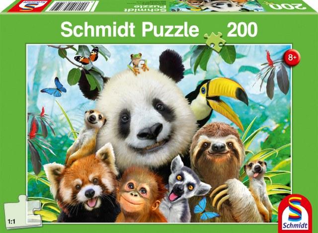 Otroska sestavljanka puzzle 200 delni Schmidt Zivalsko Veselje