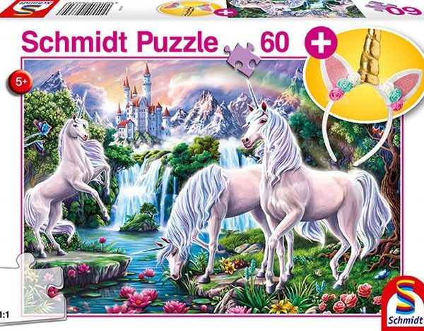 Otroska sestavljanka puzzle 60 delni Schmidt Samorog z dodatkom