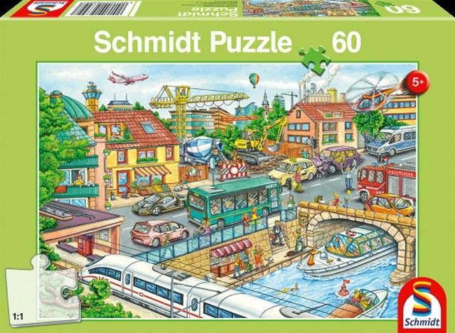 Otroska sestavljanka puzzle 60 delni Schmidt Vozila in promet