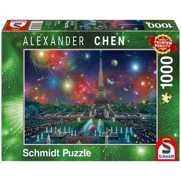 Sestavljanka 1000 delna Schmidt Chen Paris