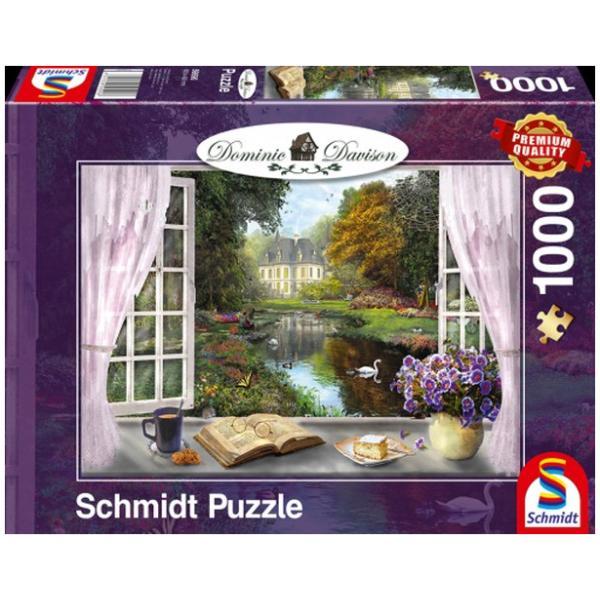 Sestavljanka 1000 delna Schmidt Davison Grajski vrt