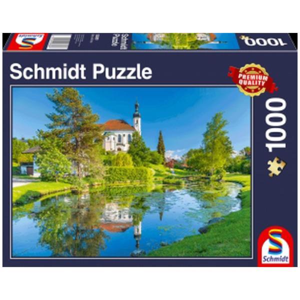 Sestavljanka puzzle 1000 delna Schmidt Breitbrunn Chiemgau