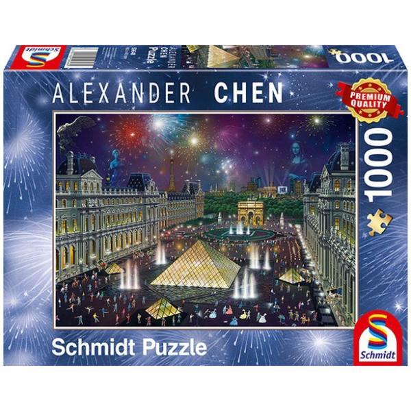 Sestavljanka puzzle 1000 delna Schmidt Chen Louvre
