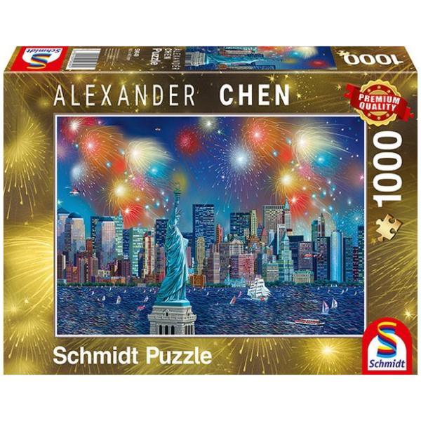 Sestavljanka puzzle 1000 delna Schmidt Chen NewYork