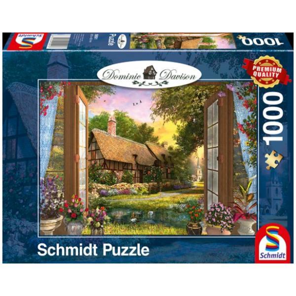 Sestavljanka puzzle 1000 delna Schmidt Davison Koča