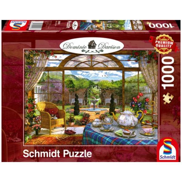 Sestavljanka puzzle 1000 delna Schmidt Davison Zimski vrt