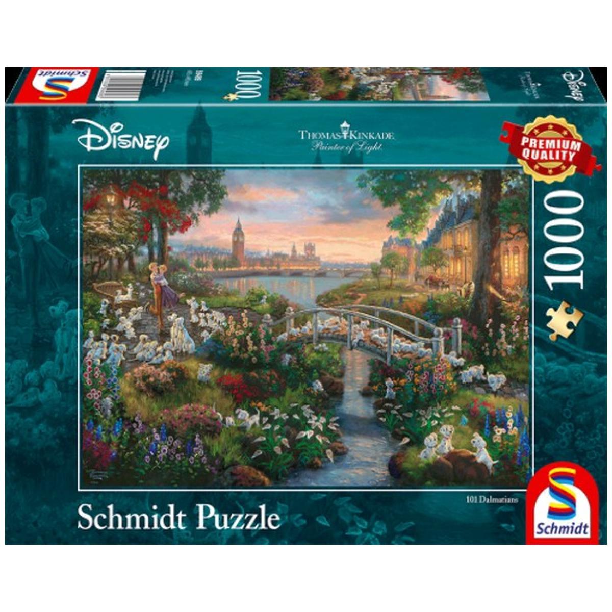 Sestavljanka puzzle 1000 delna Schmidt Disney 101 Dalmatinec