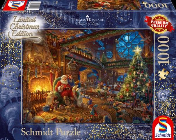 Sestavljanka puzzle 1000 delna Schmidt Kinkade Bozicek in skrati