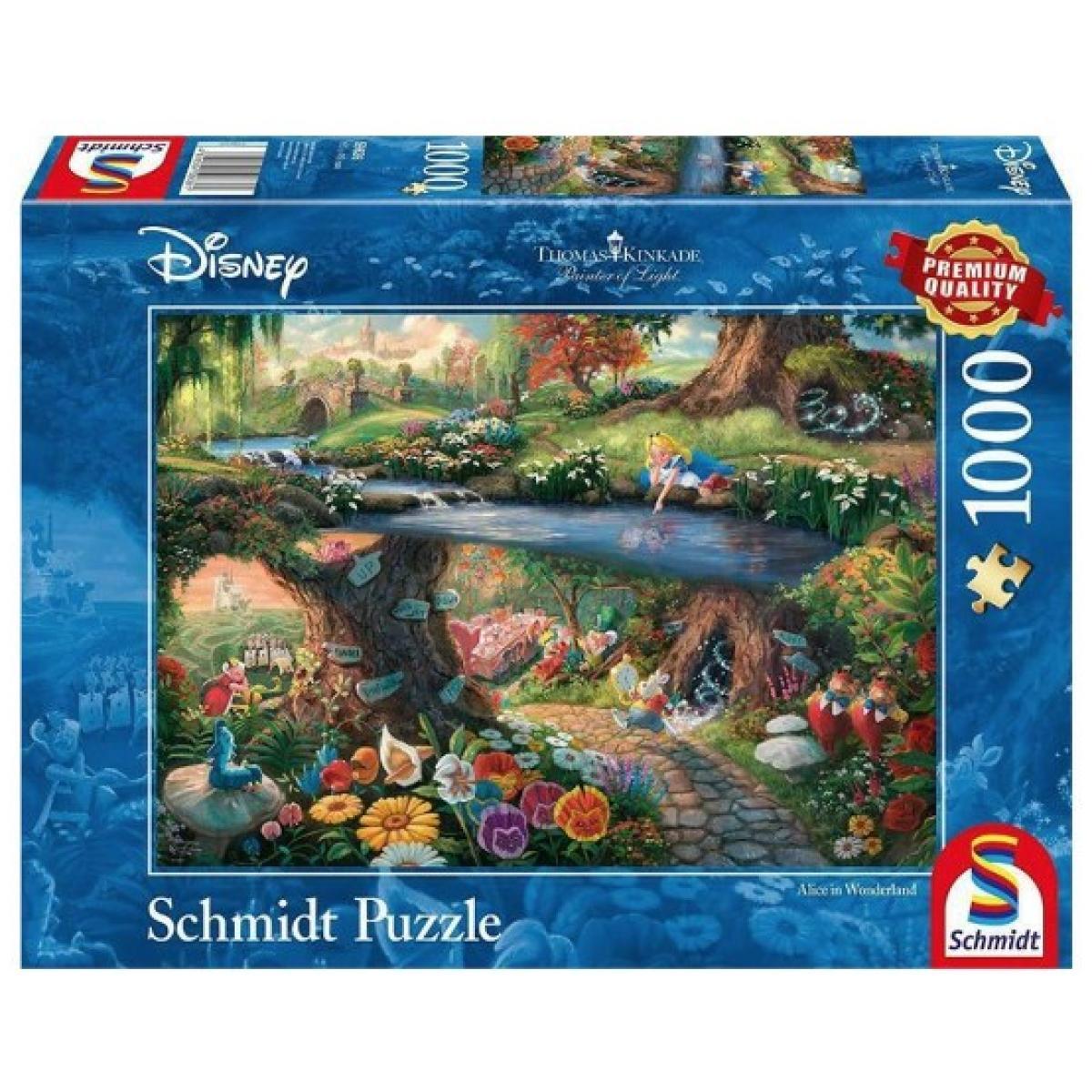 Sestavljanka puzzle 1000 delna Schmidt Kinkade Disney Alice