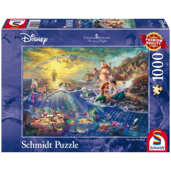 Sestavljanka puzzle 1000 delna Schmidt Kinkade Disney Morska deklica