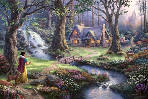 Sestavljanka puzzle 1000 delna Schmidt Kinkade Disney Sneguljčica