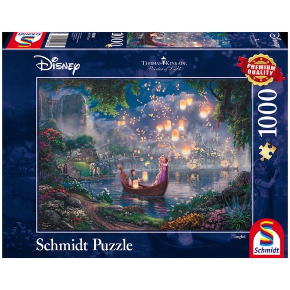 Sestavljanka puzzle 1000 delna Schmidt Kinkade Disney Zlatolaska