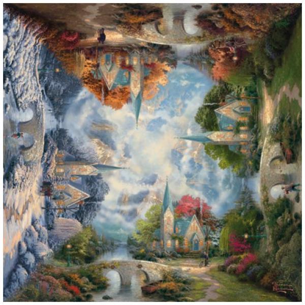Sestavljanka puzzle 1000 delna Schmidt Kinkade Kapela