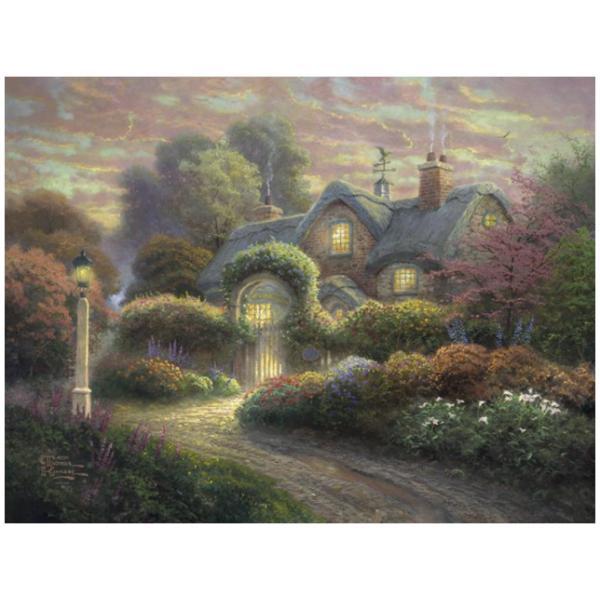 Sestavljanka puzzle 1000 delna Schmidt Kinkade Koča v rožah
