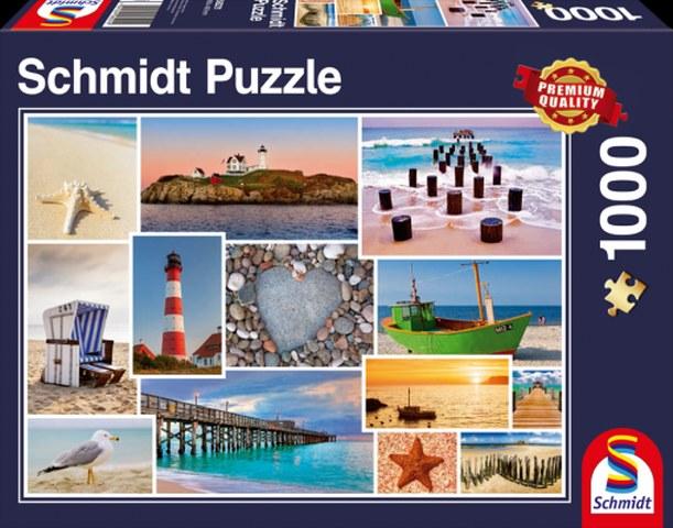 Sestavljanka puzzle 1000 delna Schmidt Kinkade Ob morju