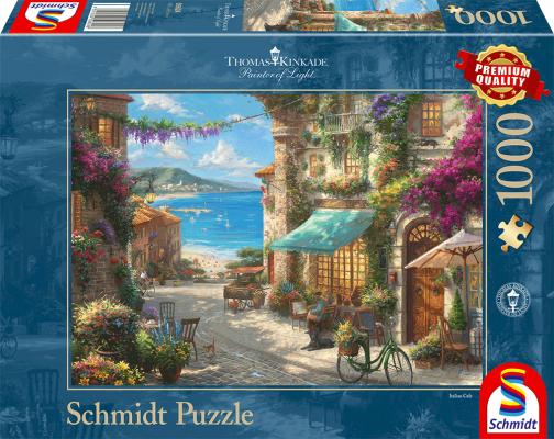 Sestavljanka puzzle 1000 delna Schmidt Kinkade kavarna