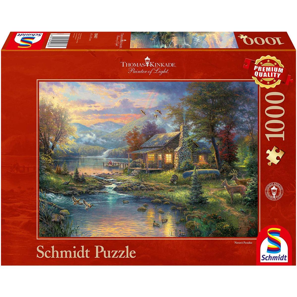 Sestavljanka puzzle 1000 delna Schmidt Kinkade raj
