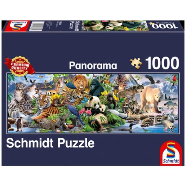 Sestavljanka puzzle 1000 delna Schmidt Panorama Živali