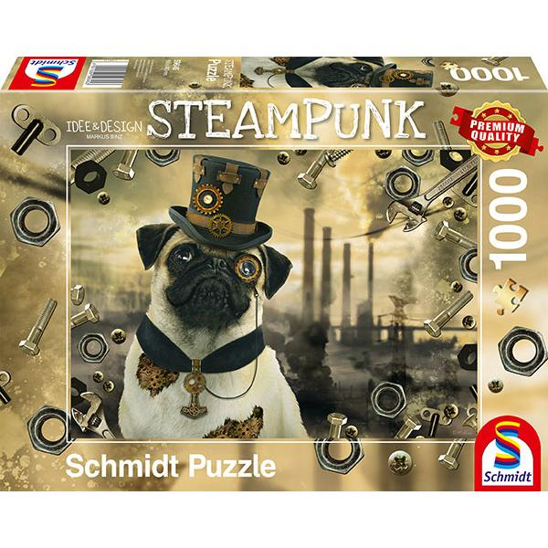 Sestavljanka puzzle 1000 delna Schmidt Steampunk pes
