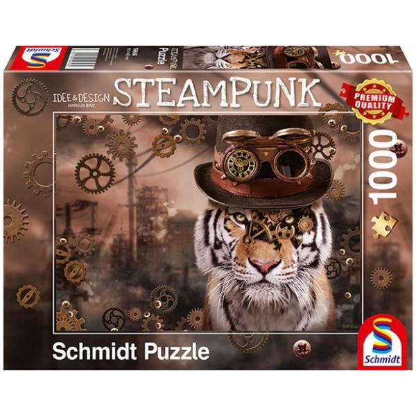Sestavljanka puzzle 1000 delna Schmidt Steampunk tiger