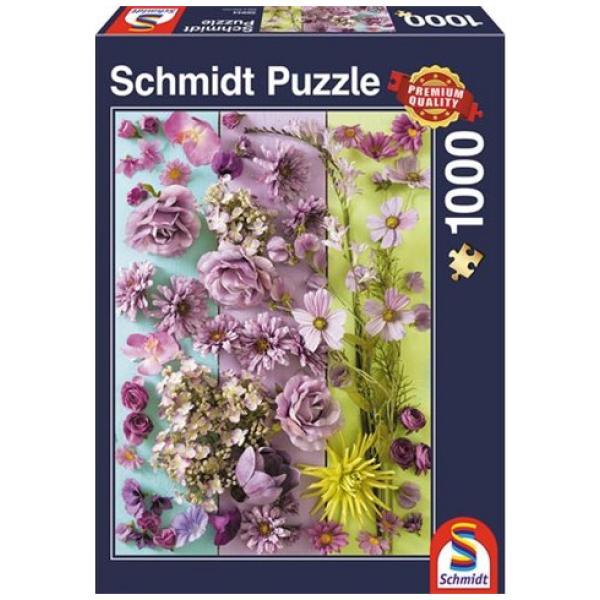 Sestavljanka puzzle 1000 delna Schmidt Vijolični cvetovi