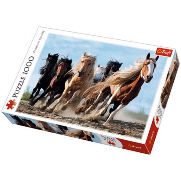 Sestavljanka puzzle 1000 delna Trefl Konji
