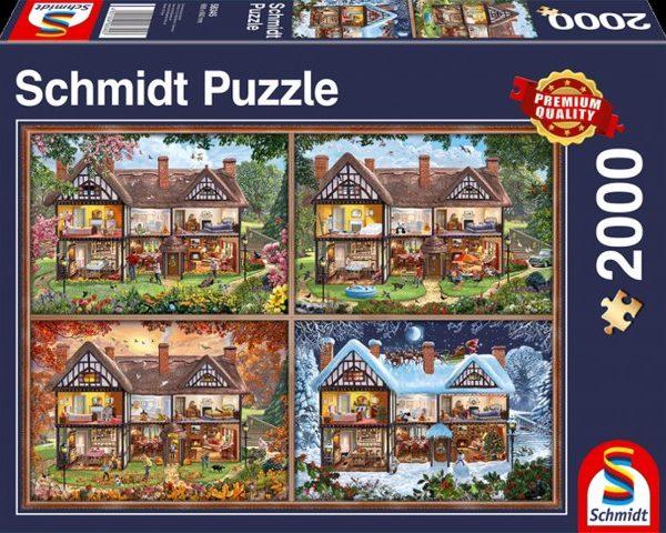 Sestavljanka puzzle 2000 delna Schmidt Hisa Stirje Letni Casi