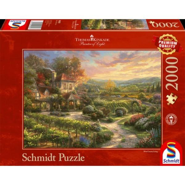Sestavljanka puzzle 2000 delna Schmidt Kinkade Vinograd