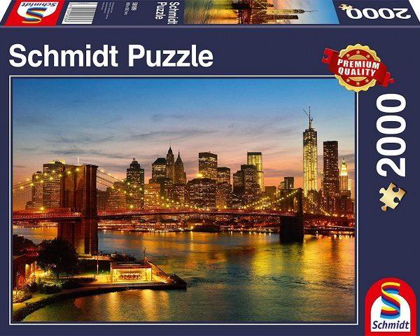 Sestavljanka puzzle 2000 delna Schmidt New York