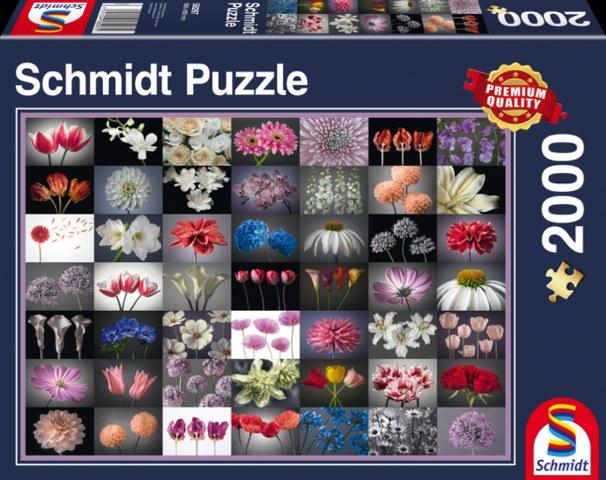 Sestavljanka puzzle 2000 delna Schmidt Roze