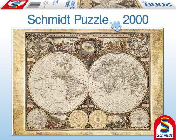 Sestavljanka puzzle 2000 delna Schmidt Zgodovinski Zemljevid