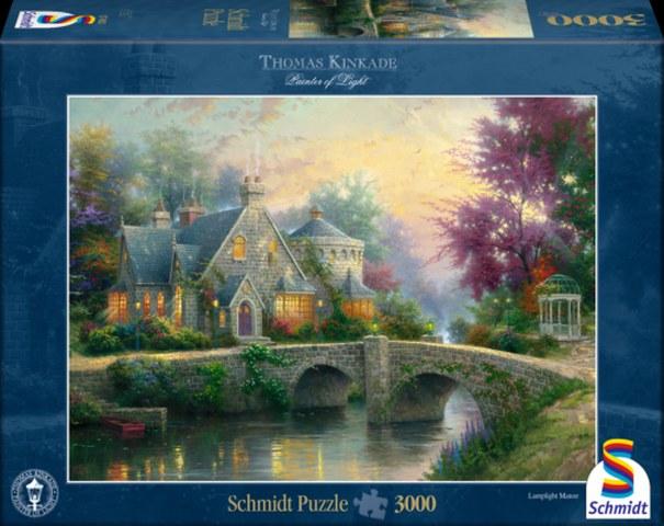 Sestavljanka puzzle 3000 delna Schmidt Kinkade Graščina