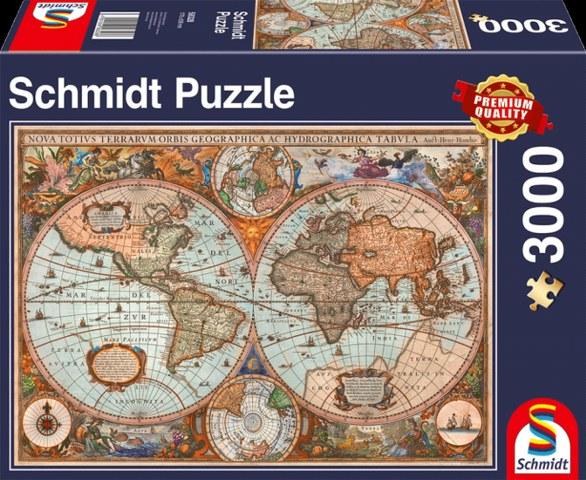 Sestavljanka puzzle 3000 delna Schmidt Zemljevid Starodavnega Sveta