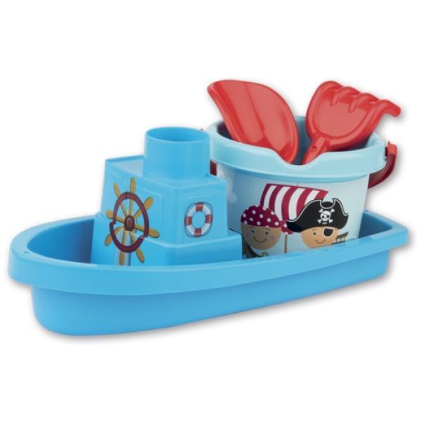 Set za plažo s čolnom 35 cm Pirati